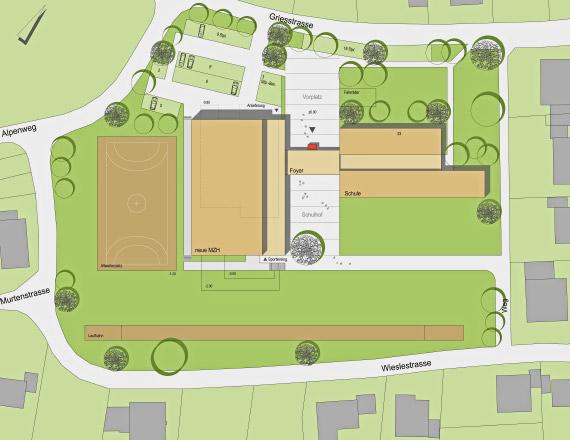 Neubau Mehrzweckhalle in Büsingen