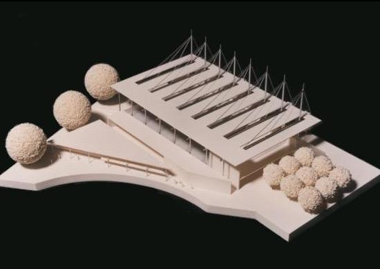 Modell Sporthalle Konstanz